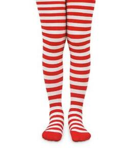 Jefferies Christmas Red and White Striped Tights  6-18M 18-24M 2-4Y 4-6Y