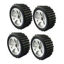 4Pcs 1:18 RC Hobby Model Car Parts A959-01 Wheel Tire Tyres for Wltoys A959