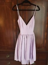 Contrarian Barbara Bibb Backless Dress, Lavender, Size 6