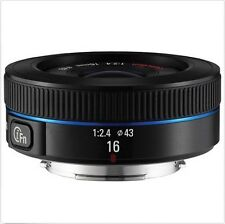 Samsung NX16mm F2.4 i-F Ultra Wide Lens 16mm For NX30 NX500 NX300M NX3000 Black