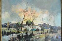 """Michael Gaulin geb. 1929 in le Havre  """"Südfranzösische Landschaft """" Ölgemälde"""