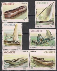 Mozambique 1982 Traditional Boats Piroques/Canoes Sailing Craft 6v set MNH