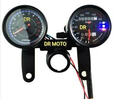 Km meccanico contagiri chiave staffa custom moto Cafe racer Nero Conta Chilometr