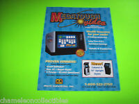 MEGATOUCH COUNTERTOP MERIT ORIGINAL NOS VIDEO ARCADE GAME MACHINE SALES FLYER