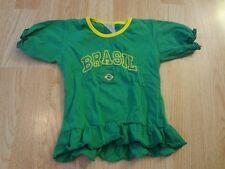 Toddler Girls Brazil Soccer 2T Cheerleader Cheer Outfit Dress Brasil Futbol (Gre