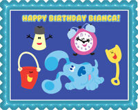 BLUE'S CLUES CLOCK - Edible Birthday Cake Topper & Cupcake Topper