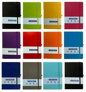 A6/A5/A4 Hardback Lined Notebook Ruled Notepad Notes Diary Journal Premium Book