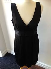 "STUNNING LADIES BLACK WITH SILVER PINSTRIPE DRESS BY ""CLOSET"" BNWT SIZE 14"