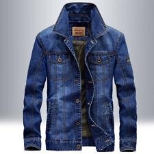 New Men's Jean jackets Retro Denim Jacket Coat Casual Cotton Outwear fashion