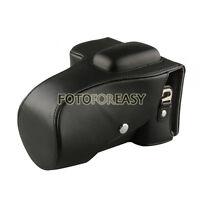 Black Leather Camera Case Bag For Nikon D5100 D5200 DSLR 18-55mm / 18-105mm lens
