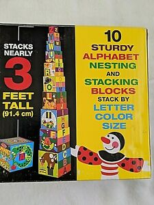 MELISSA AND DOUG'S ALPHABET NESTING & STACKING BLOCKS, FOR AGES 2 TO 4 YEARS OLD