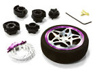 C26406BLACKPURPLE D5S Steering Wheel Set for Most HPI, Fut, Air, Hitec KO