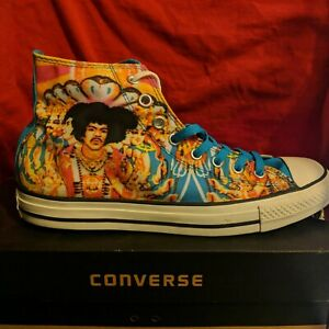 JIMI HENDRIX CONVERSE NEW IN BOX!' SCUSE ME WHILE I KISS THE SKY! UNPARALLELED !