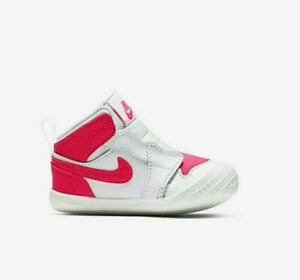 Nike Air Jordan Girls Infant Baby Retro Crib Booties Pink Size 3c
