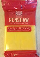 250g Pastel Yellow Renshaw Regalice/Decorice-implementar Glaseado Sugarpaste/