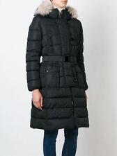 2016 Moncler Genevriette Padded Coat Jacket Fur Hood size 2 Med $1795 NEW
