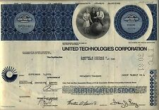 United Technologies Corporation Stock Certificate