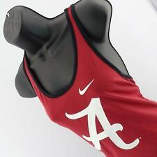 Womens Nike Dri Fit Alabama Roll Tide Tank Top Sleeveless Gym Shirt Size Large L