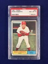 1961 Topps Robin Roberts #20 PSA 8 Philadelphia Phillies HOF