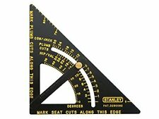 Premium Adjustable Quick Square Layout Tool - Black Body with Yellow Graduations