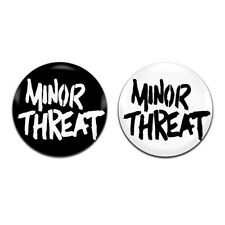 2x Minor Threat Punk Band 25mm / 1 Inch D Pin Button Badges