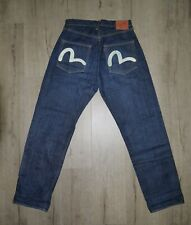 Vintage Evisu lot 2001 No.2 Selvedge Jeans Denim Made In Japan 33x35