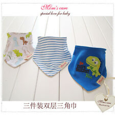 Bandana/Triangle dribble bibs (Pack of 3) - Dinosaur