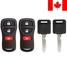 2x New Replacement Keyless Remote with Ignition Key For Nissan ID 46 Chip N104T