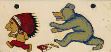 UC Cal Berkeley vs Stanford RARE 1940's College Decal vtg NCAA Bears vs Indians