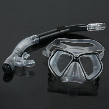 Dive Diving Mask Goggles Dry Snorkel Set Swimming Scuba Snorkeling Gear