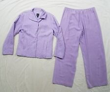Eileen Fisher Womens Lilac Purple Silk Pant Suit Buttoned Blazer Jacket X-Small