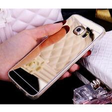 Etui Housse Coque Hybrid TPU Métal Bumper Case Miroir Arrière Cover Pour Samsung