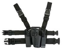 FONDINA SOFTAIR COSCIALE SERPA CQC DESTRA M92 BK 3035 AIRSOFT TACTIC LEG HOLSTER