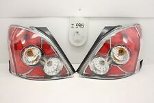 PAIR NEW TYC AFTERMARKET CHROME TAIL LIGHTS LAMPS 06-11 TOYOTA YARIS HATCHBACK