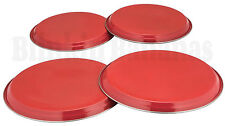 RED COLOUR HOB COVERS COLOURED 4PC  METAL ELECTRIC COOKER RING PROTECTOR 07B