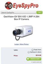 GeoVision H.264 box/mfd ip camera GV-BX110D