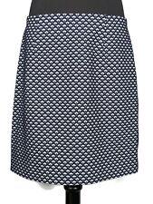 Ann Taylor Blue White Brocade Pencil Skirt Size 12