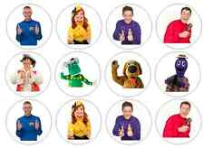 12 PRECUT The Wiggles Edible Wafer Paper Cupcake Toppers