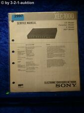 Sony Service Manual XEC 1000 Electronic Crossover Network (#2997)