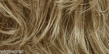 Short Human Hair Lightweight and Breathable Blonde Red Wavy Monofillament Wig
