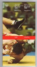 Orig.PRG / Off.Regeln / Guide   Olympische Spiele MONTREAL 1976 - RINGEN  !! TOP