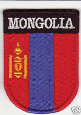 MONGOLIA Country Flag Patch Shield Style