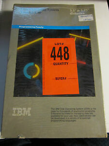 """NOS 1987 IBM DISK OPERATING SYSTEM 3.30 DISKETTES IN THE BOX - 3.5"""" X 5.25"""""""