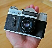 Vintage Russian Zenit-E 35mm SLR Film Camera with Industar-50-2 lens VGC