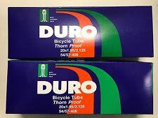TWO 20x1.95/2.125 Duro Thorn Resistance Bike Inner Tube Schrader Heavy Duty
