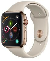 Apple Watch Series 4 40 mm Gold Stainless Steel /Stone Sport Band GPS + Cellular