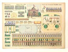 Pellerin Imagerie D'Epinal- 824 Villa Palerme Sicile Moyenne vintage paper model