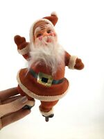 "Cute Vintage Santa Claus 9"" Figure Christmas Dancing Felt 40s 50s"