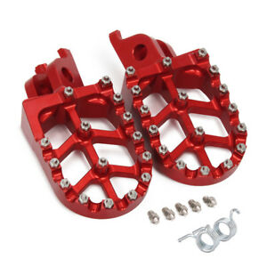 CNC Red Foot Pegs Pedals Rests For CR125 CR250 CRF250R CRF250X CRF450R CRF450X