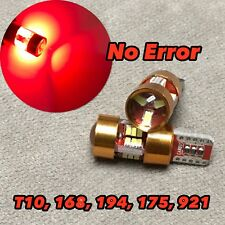 PARKING LIGHT T10 LED RED bulb No Canbus Error w5w 168 175 194 27SMD for Honda